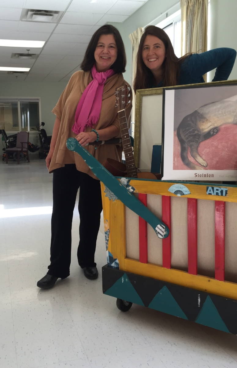 """""""Art Cart"""" at Hillcrest Commons with Jeanne Laurin Schnackenberg"""