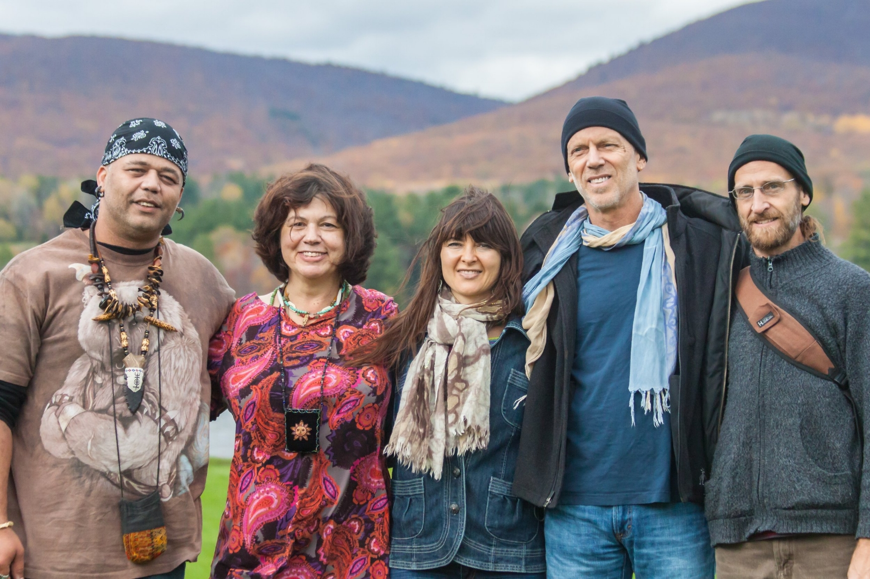 "After recording ""Survivor Tree"" at Thomas Island with Shaun LaFramboise l to right: Shawn Stevens, JoAnne Spies, Jennifer Reis, Michael Reis, Henry Hornung"