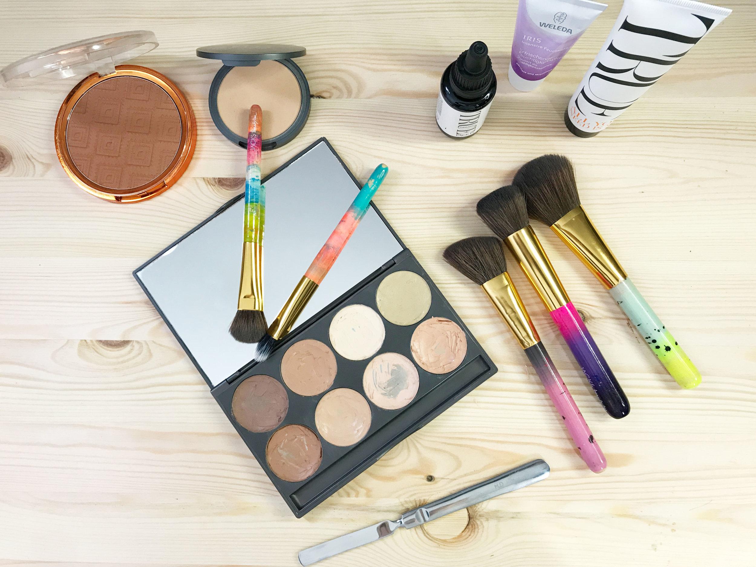 Make_Up_Artist_Produkte_Weleda_TrueOrganics_Loreal_Bronzer