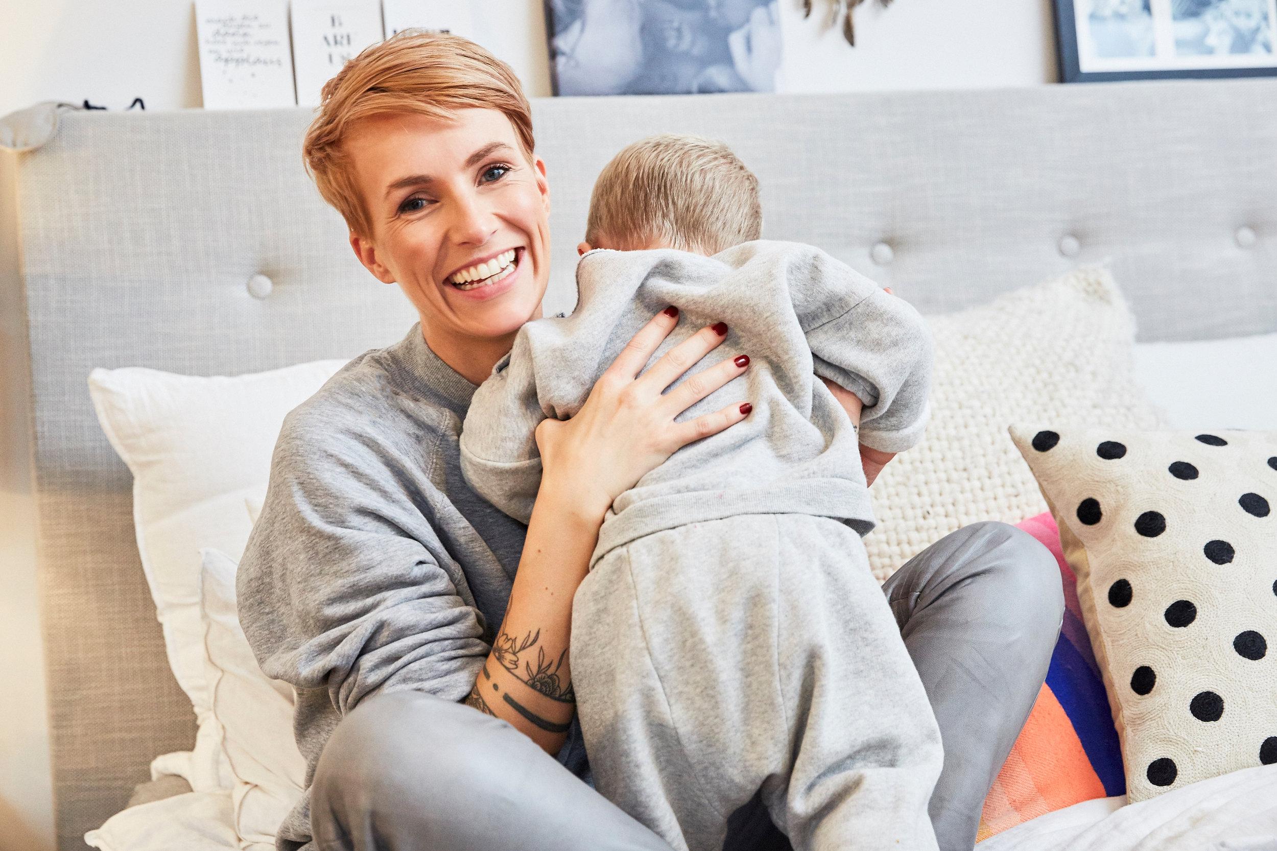Homestory bei Miriam Jacks und Sohn Noah,fotografiert von  Sophia Hauk