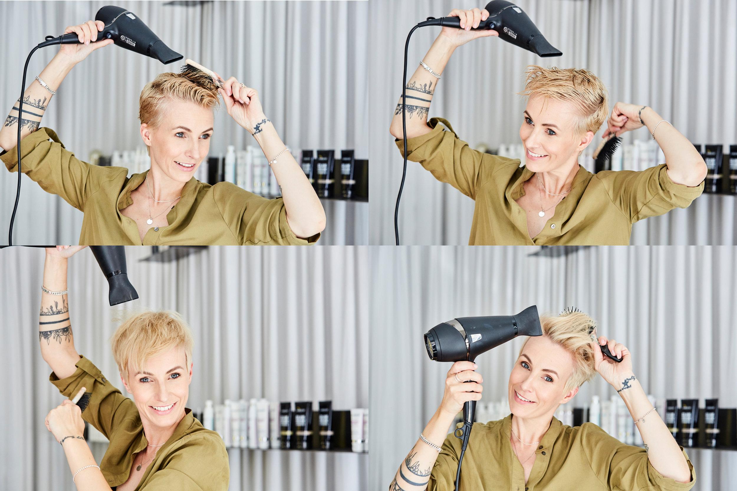 HAIRSTYLINGmega volumen - Auch wenn ich sehr kurze Haare habe, trage ich doch fast jeden Tag einen anderen Style. Ich entscheide mich eigentlich immer je nach Outfit, Lust und Laune. Wenn es so heiß ist, wie in diesen Sommer, hasse ich Haare, die mir ins Gesicht hängen. Daher style ich sie dann am liebsten nach hinten. Dafür braucht es natürlich super viel Halt! Wie ihr den hinbekommt, erkläre ich euch in 5 easy steps!LOS GEHT'S