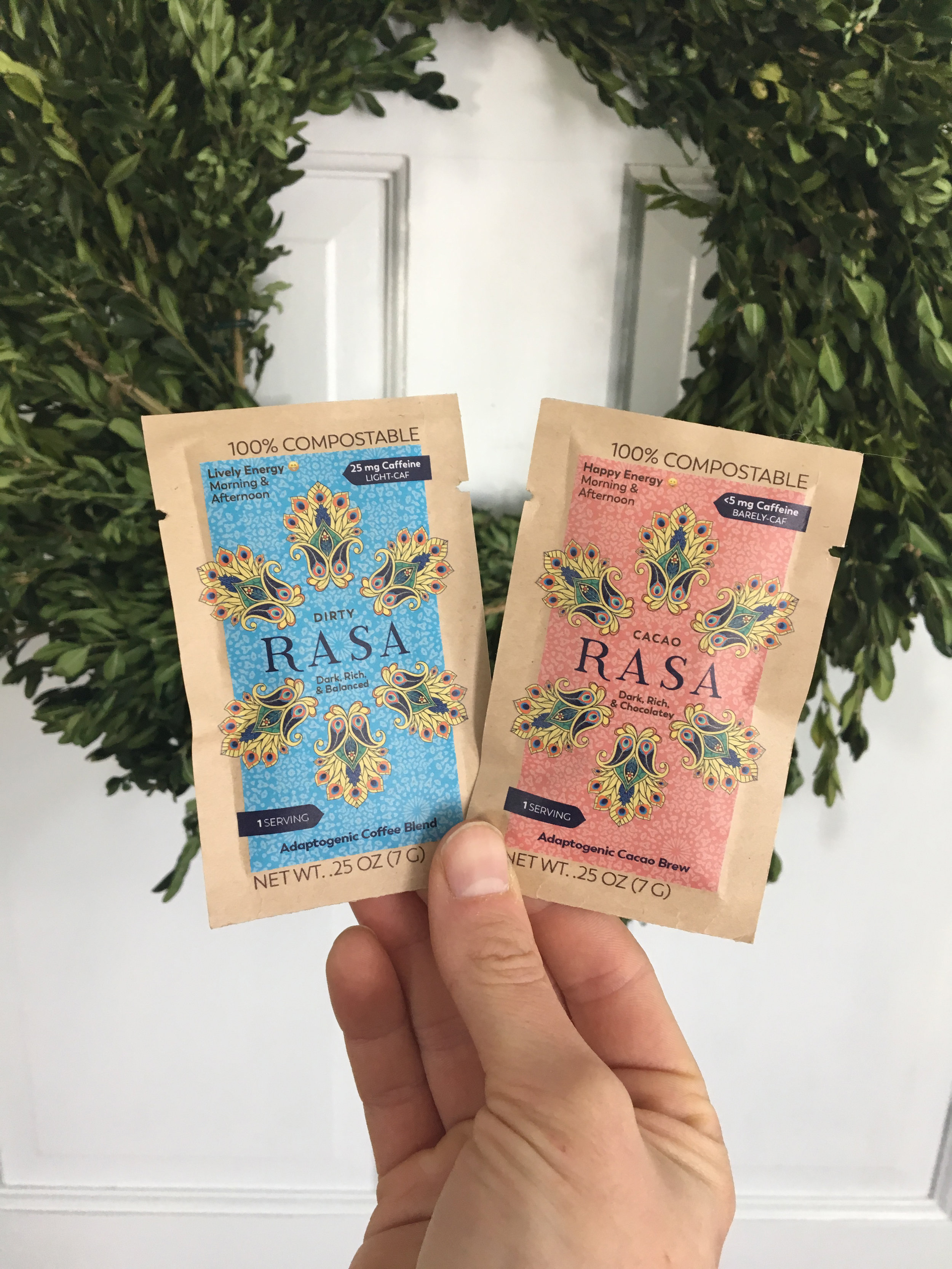 RASA KOFFEE   This coffee alternative contains ZERO caffeine and ZERO common allergies; built on ADAPTOGENS- giving you energy and healing your body one cup at a time! Enjoy the Original, Cacao or Dirty blend. Turn it into a latte or a sweet beverage treat, these blends make you feel good from the inside-out! Email sydney@nourishcapecod.com for a free sample!
