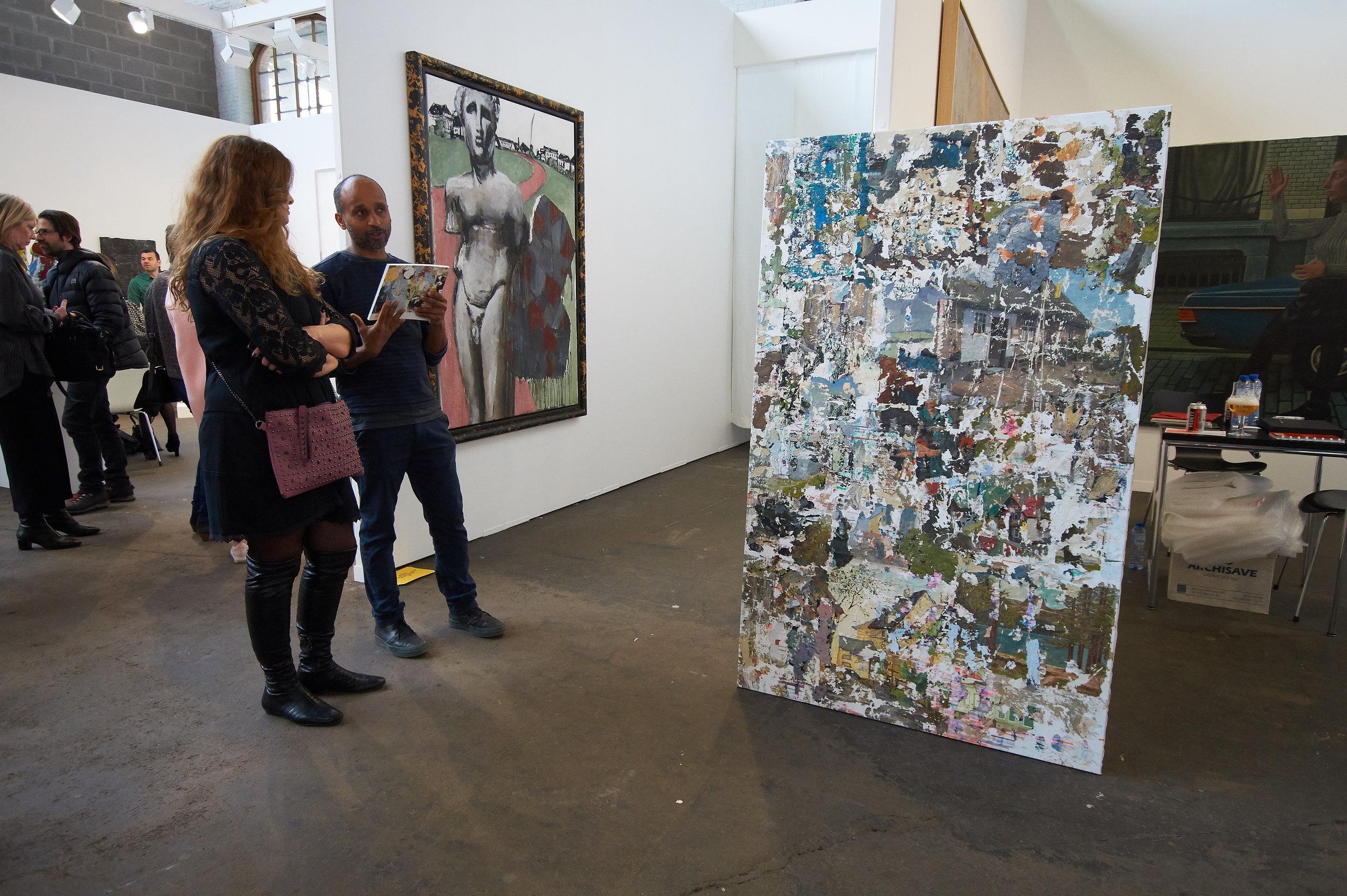 Artist Ermias Kifleyesus at Kusseneers gallery