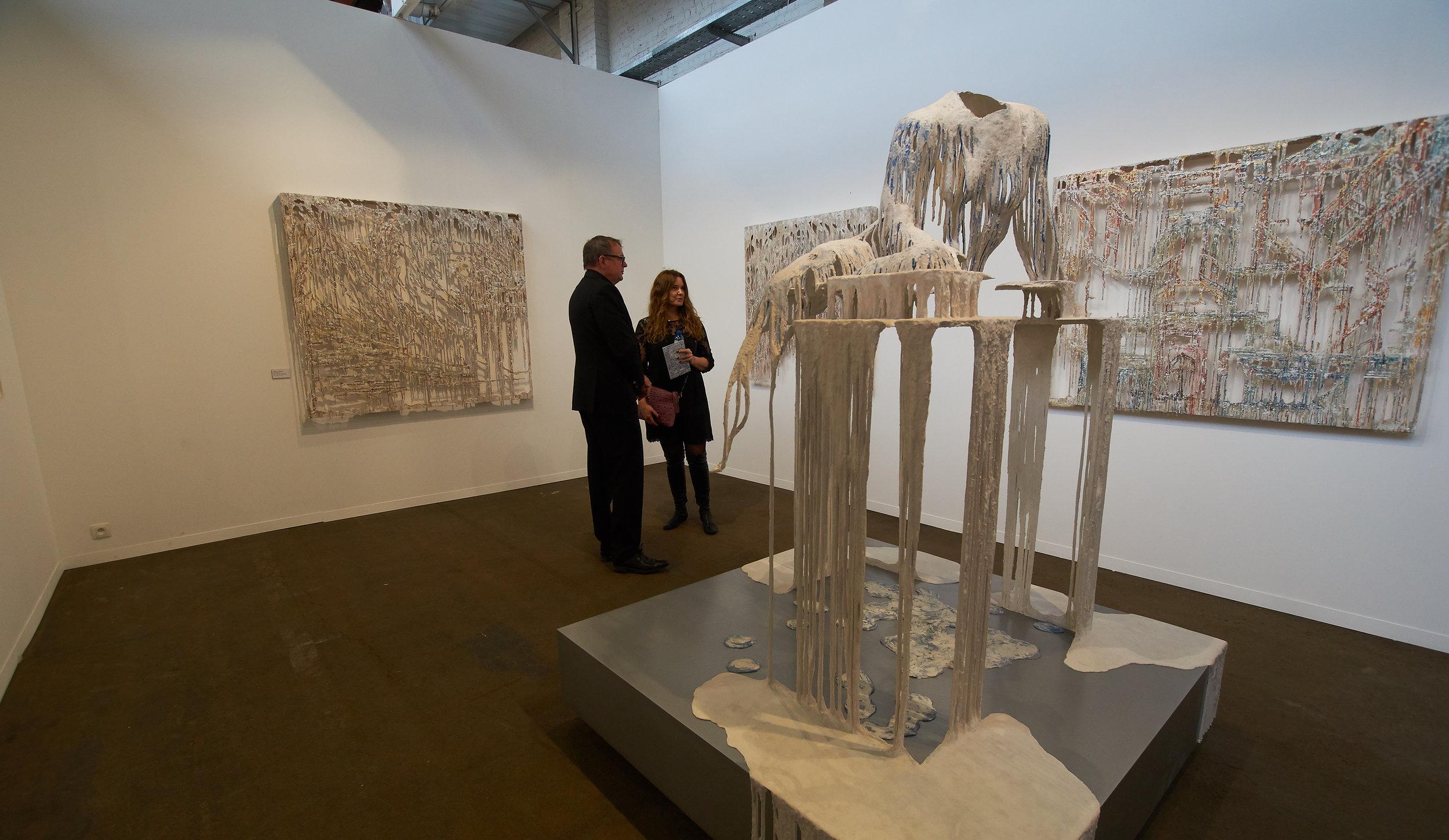 Diana Al Hadid's work at Gallery Brandstrup