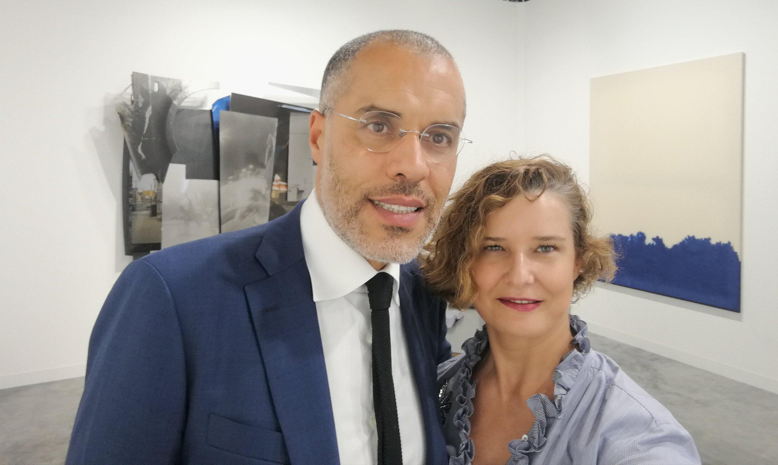 With Kamel Mennour, founder of Paris based Kamel Mennour gallery, at Art Basel Miami