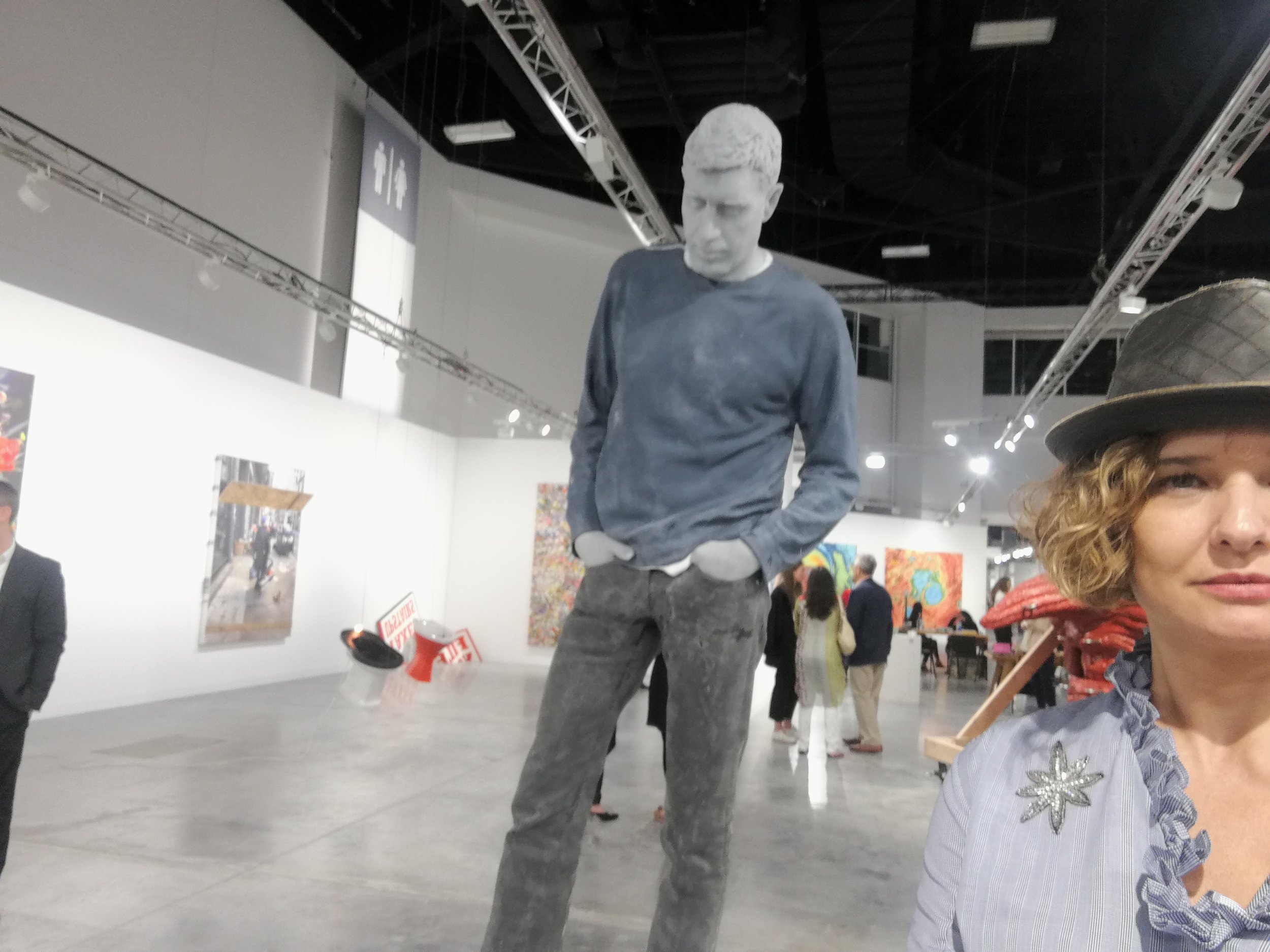 Adam, by Urs Fisher at Sadie Coles gallery. Art Basel