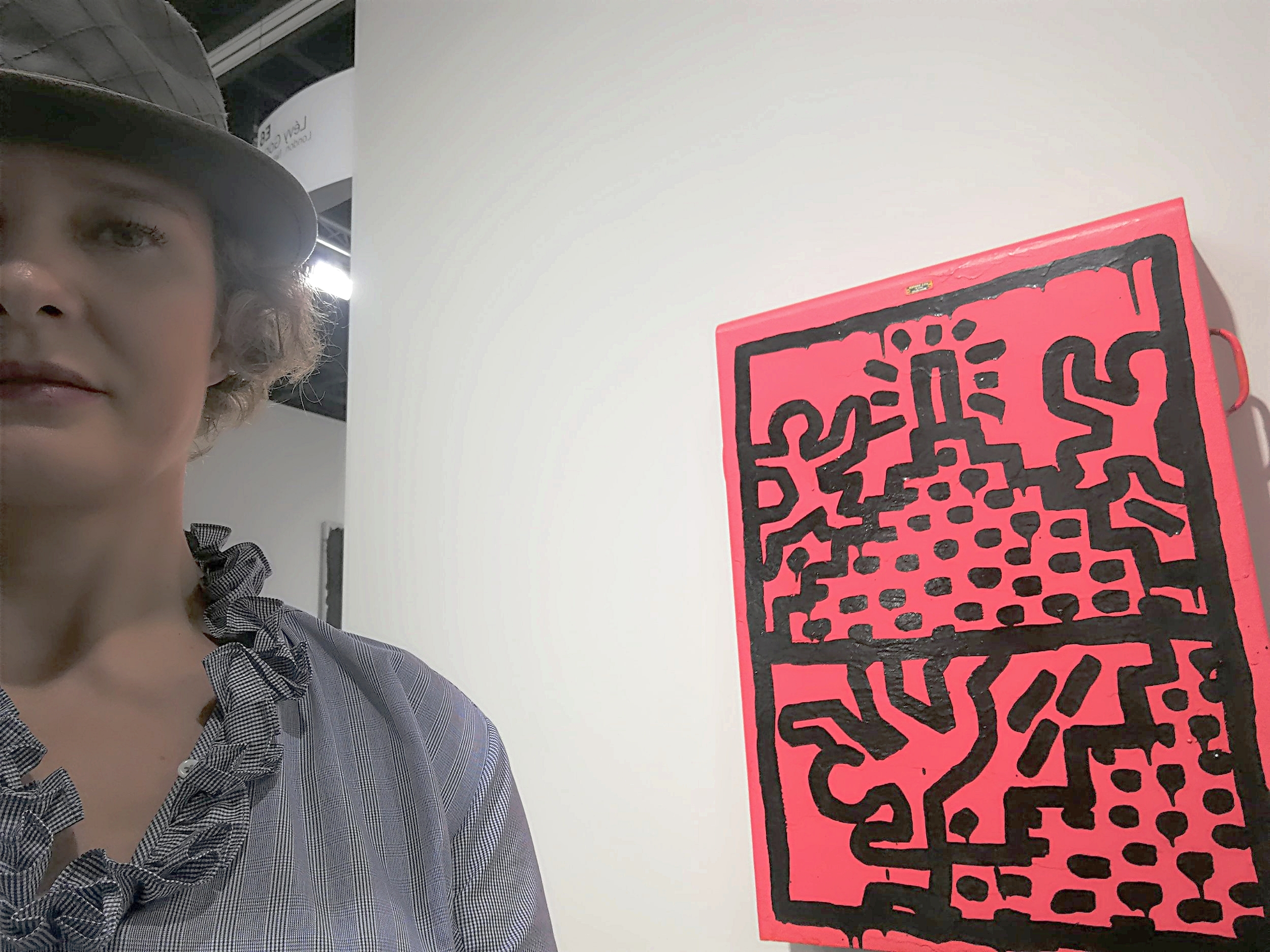 With a Keith Haring as usual! Levy Gorvy gallery at Art Basel