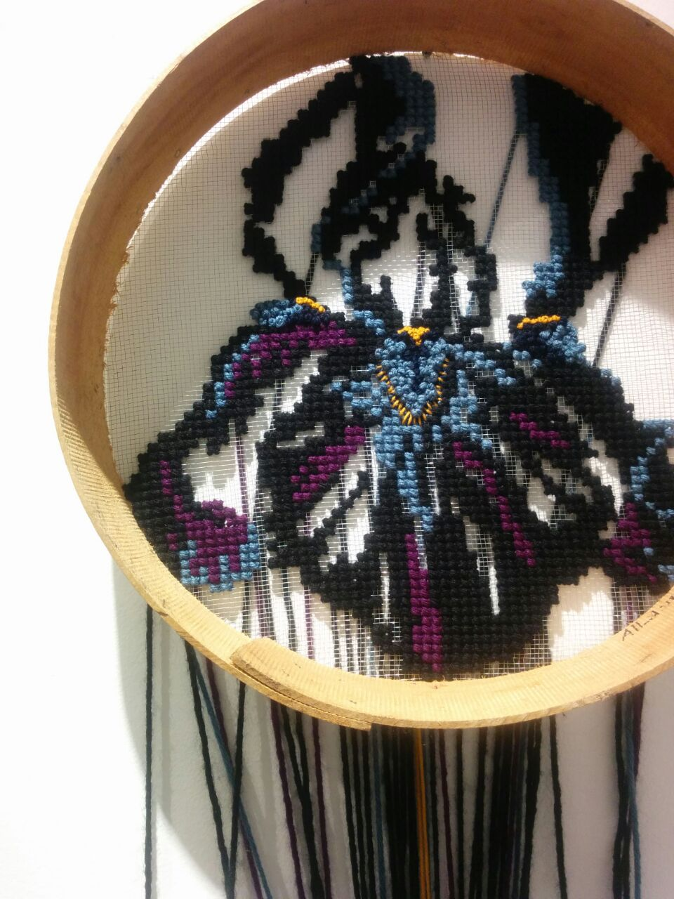 The black Iris, Jordan's national symbol, by Johanne Allard
