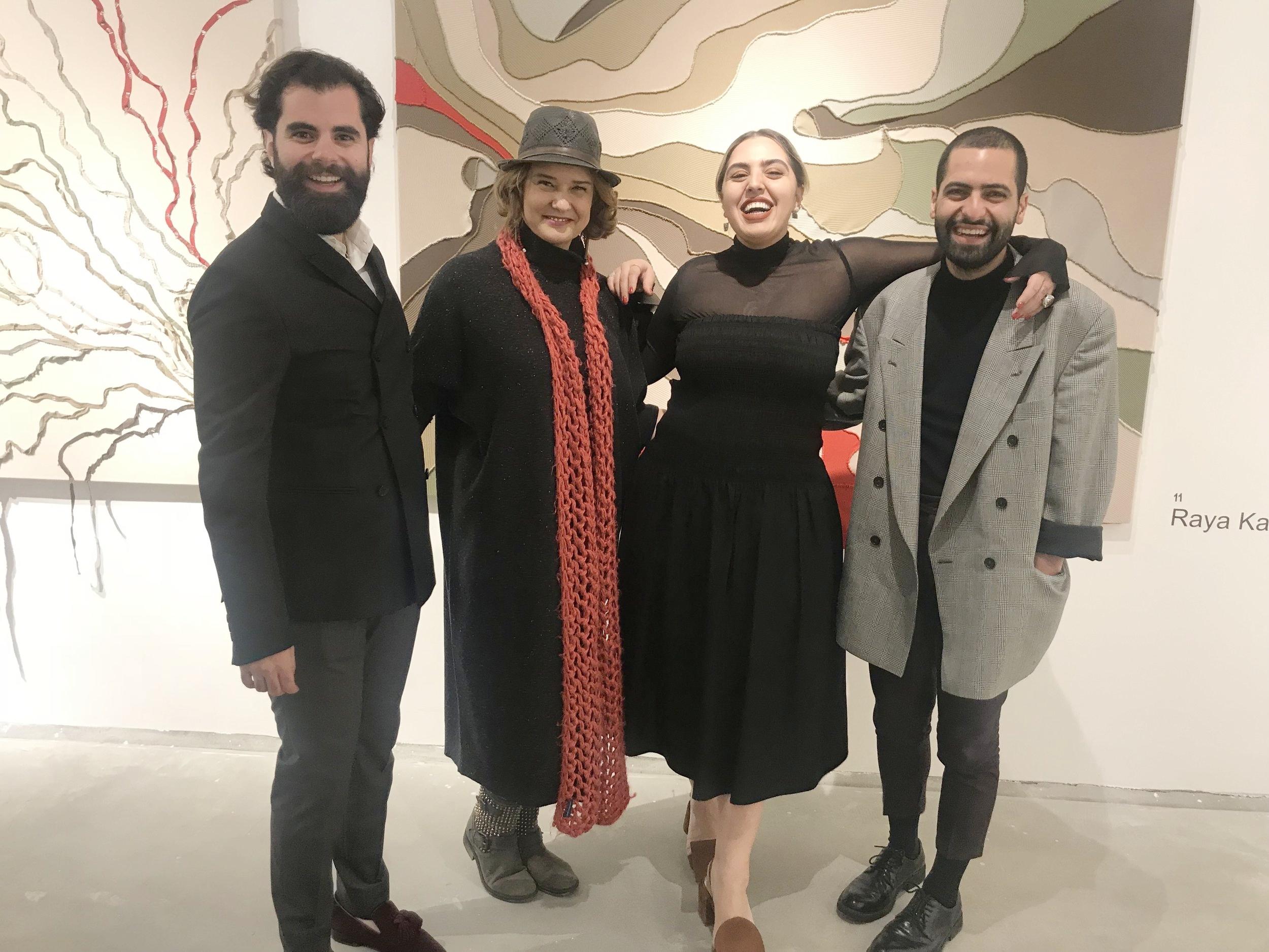 with our young talents, designers Raya Kassisieh, Fadi Zumot, and Zaid Farouki