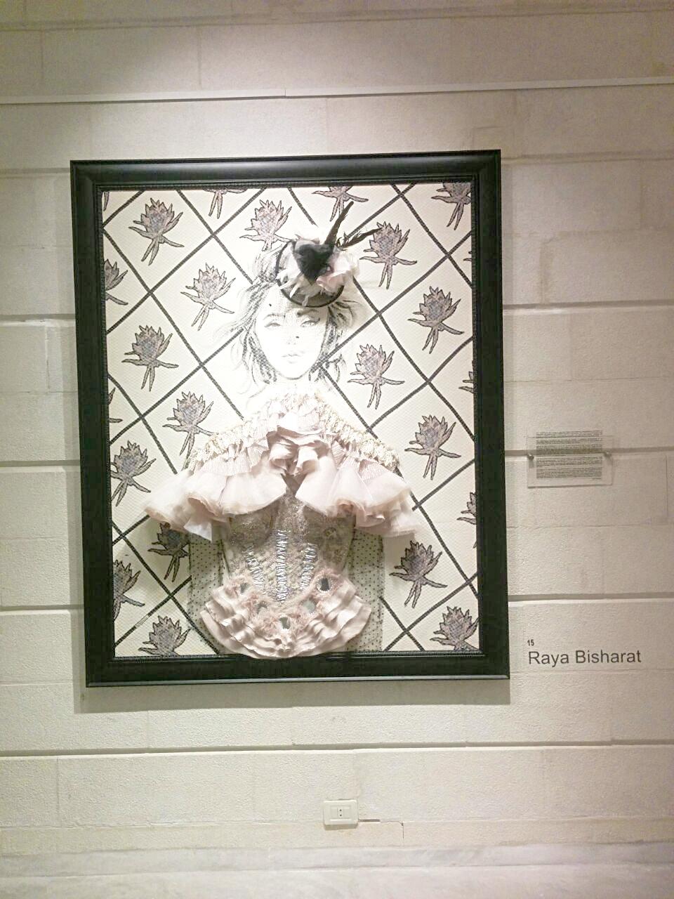 A mix of textiles by Raya Bisharat