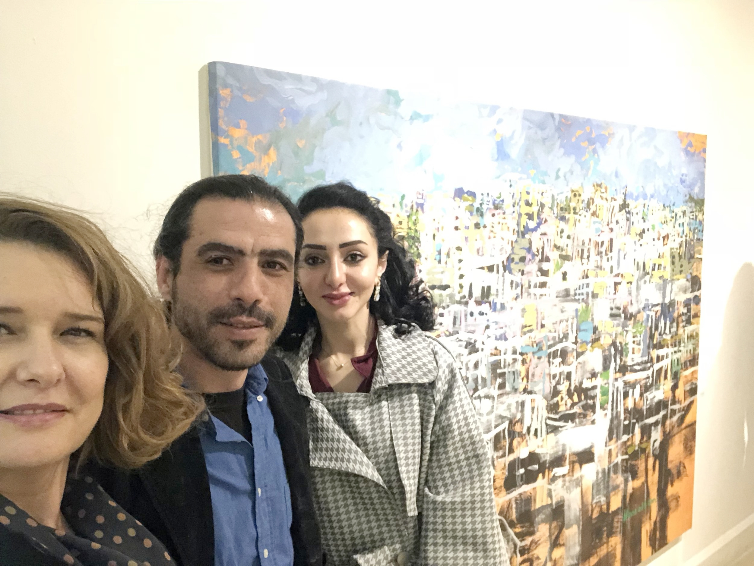 With the artist Hani Alqam and his lovely wife