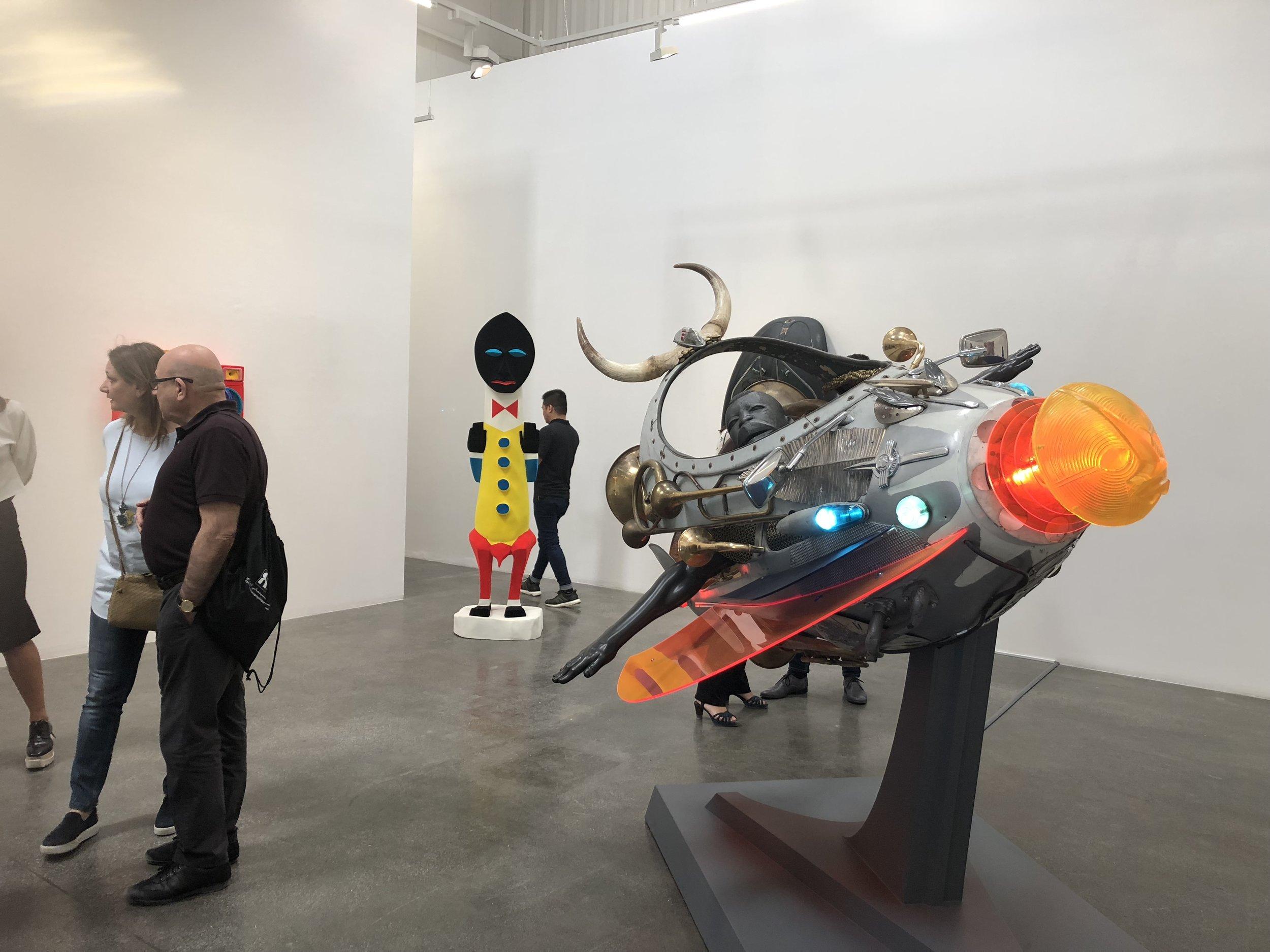 Zak Ove's work at Lawrie Shabibi Gallery