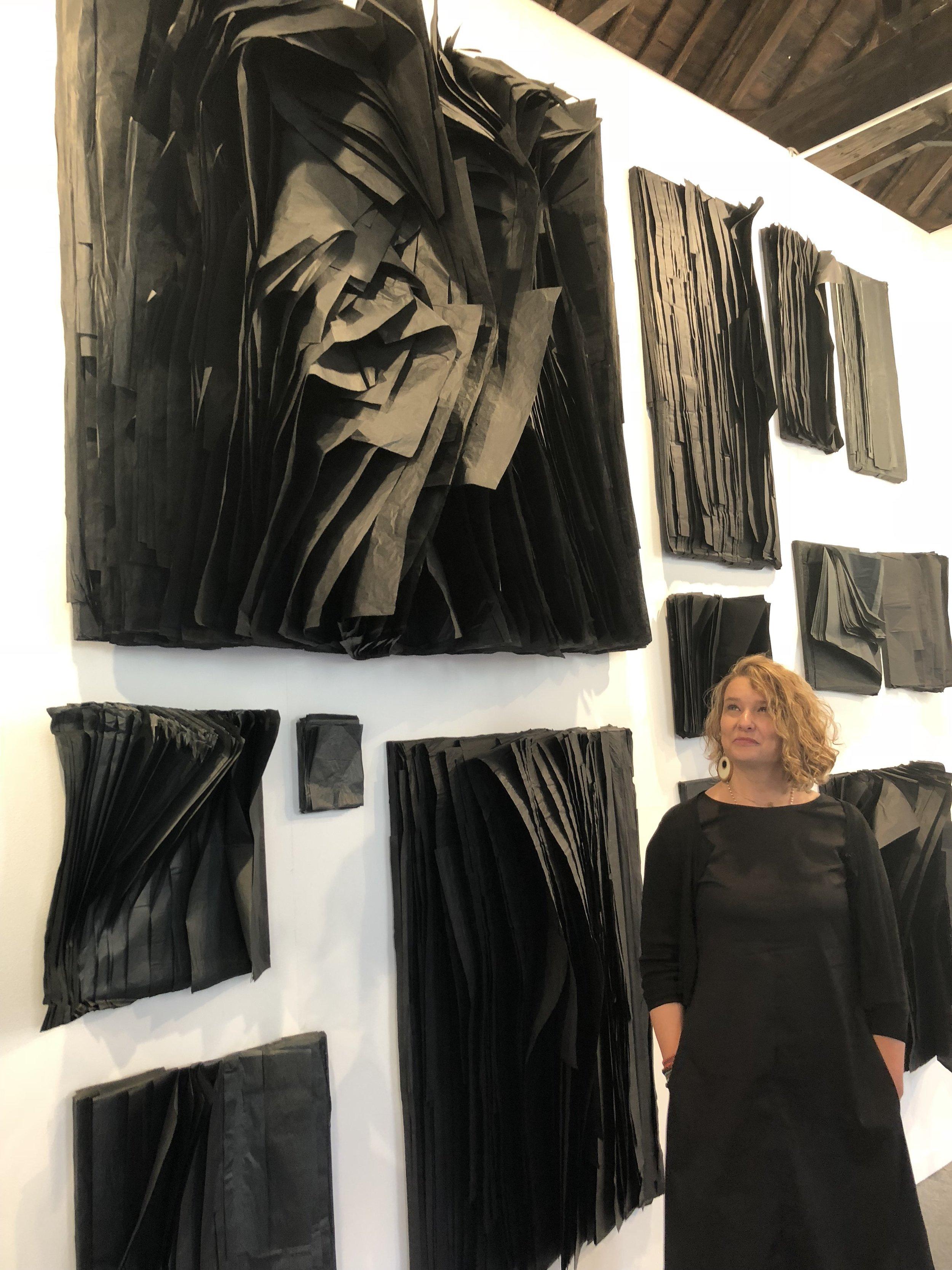 Sabrina Amrani gallery and the beautiful works of Joël Andrianomearisoa