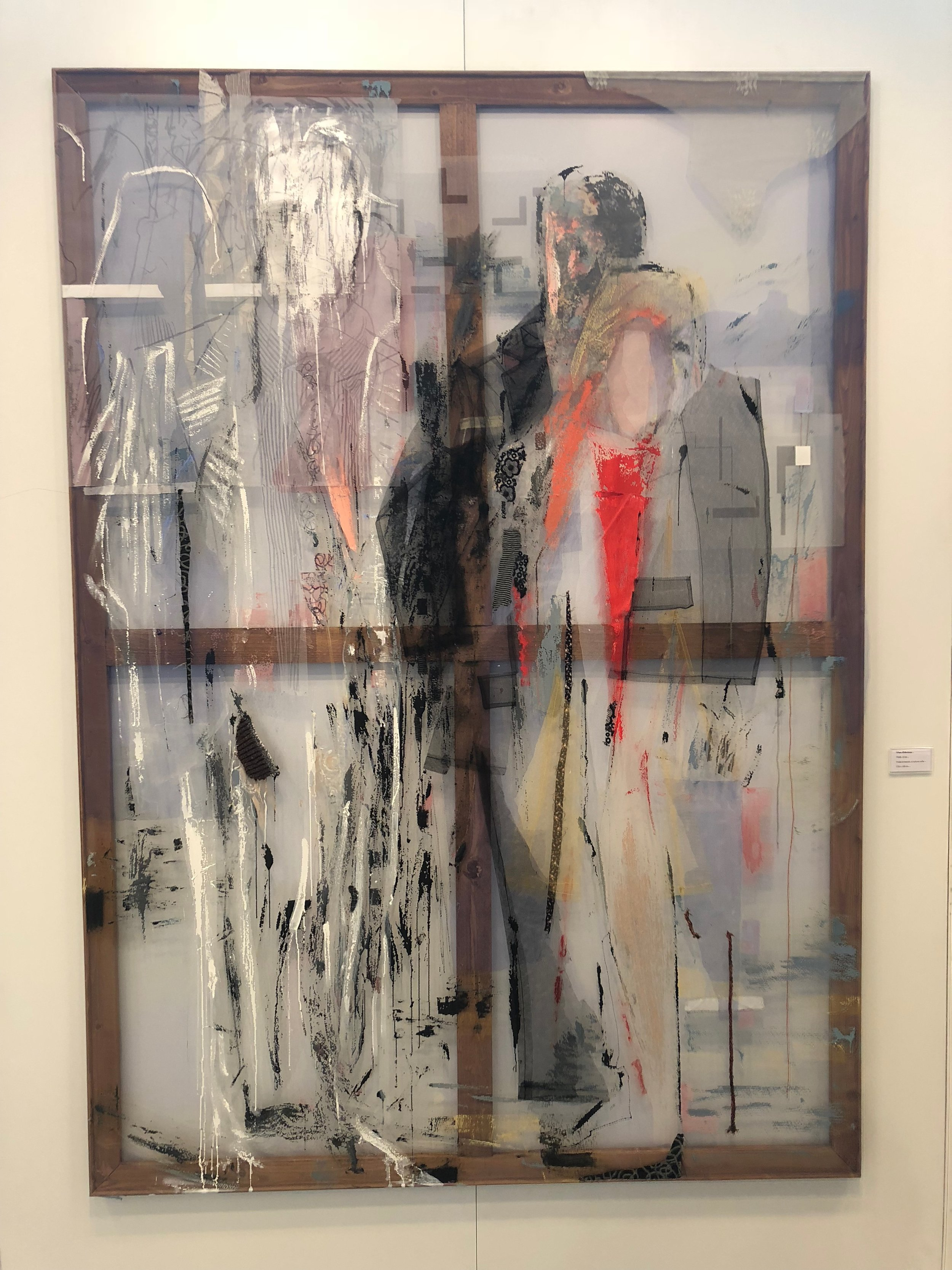 Irfan Onurmen's textiles and acrylic at C24 Gallery