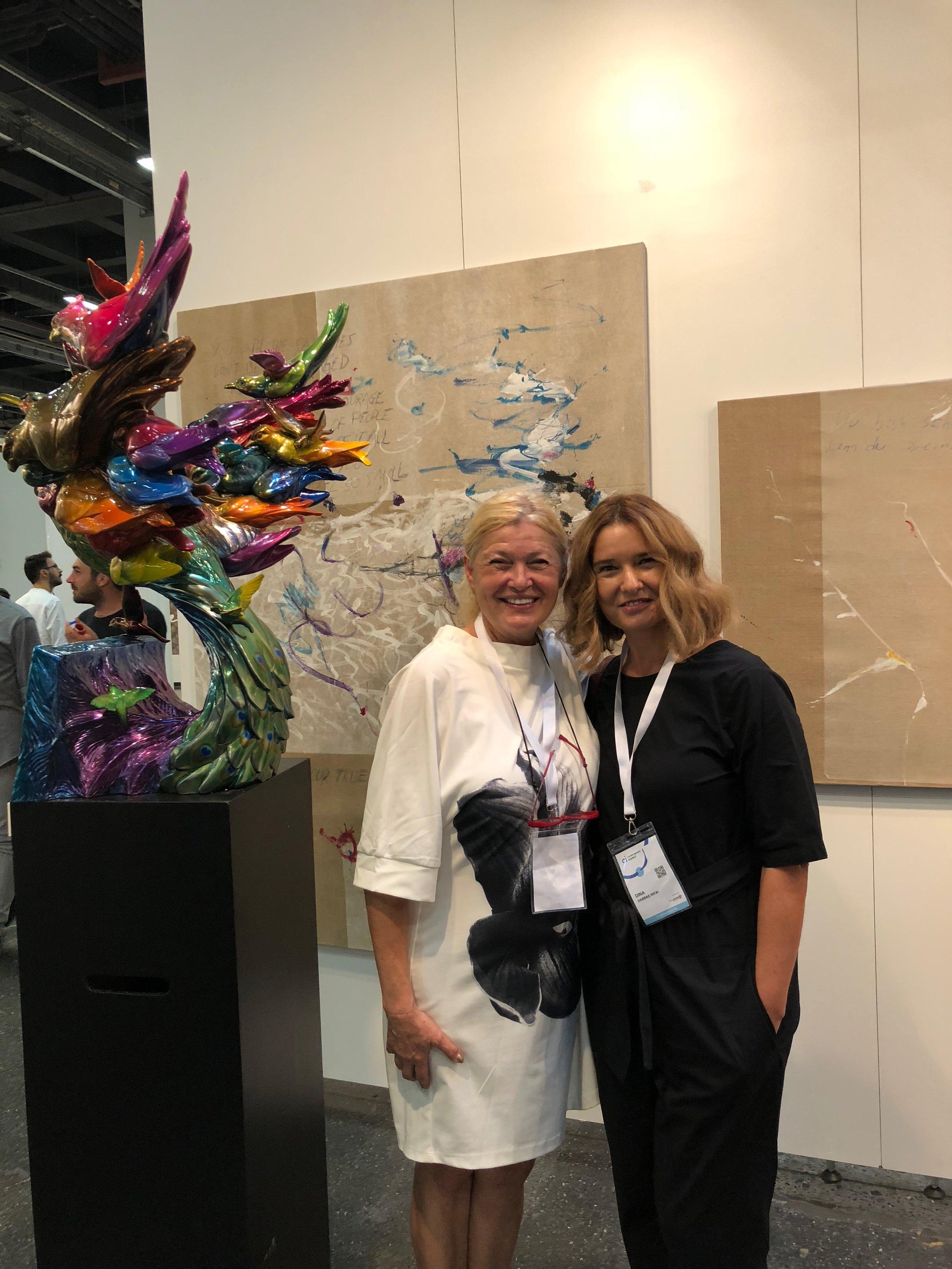 With artist Maria Kiliclioglu