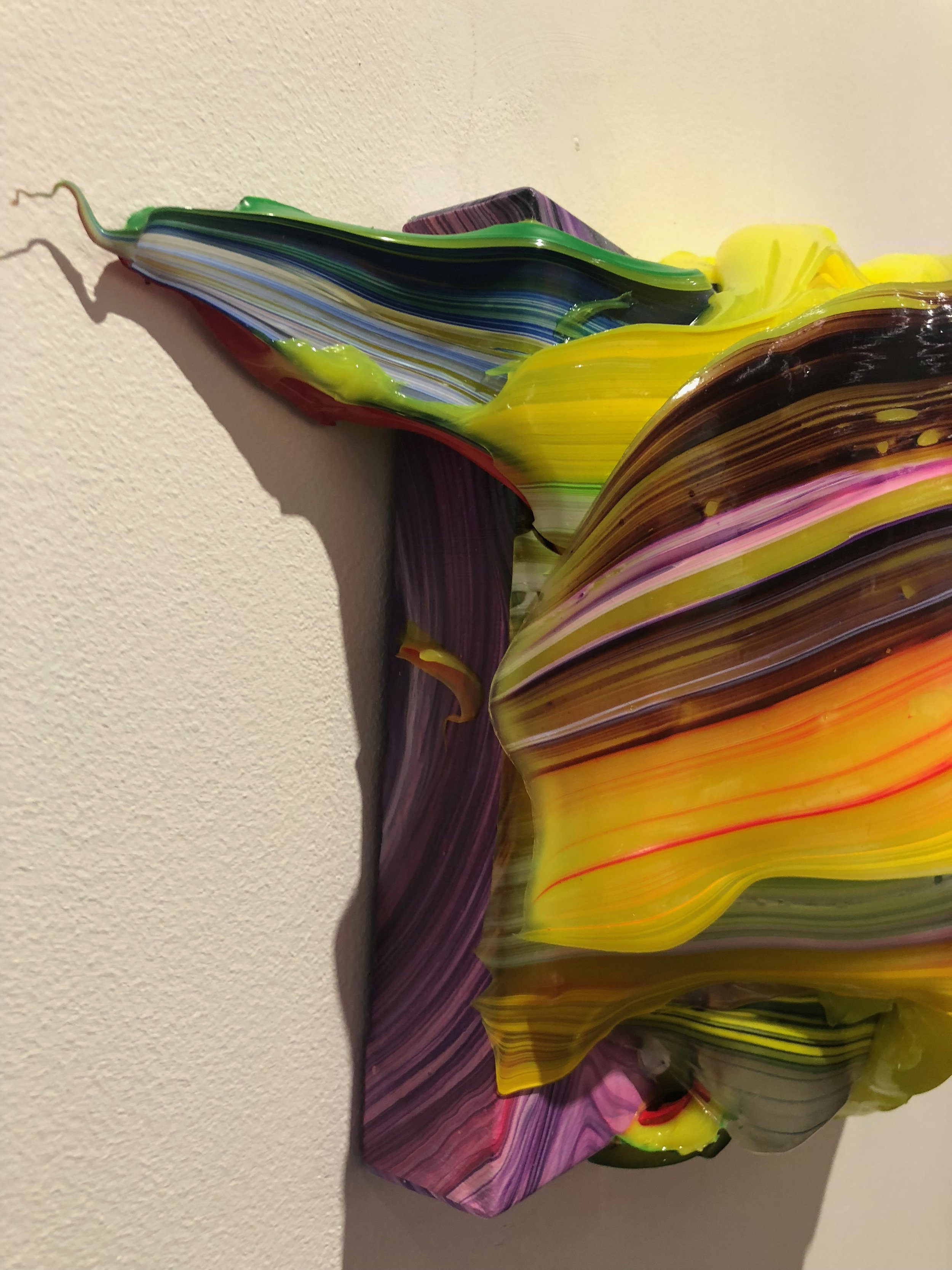A close up of Yago Hortal's work
