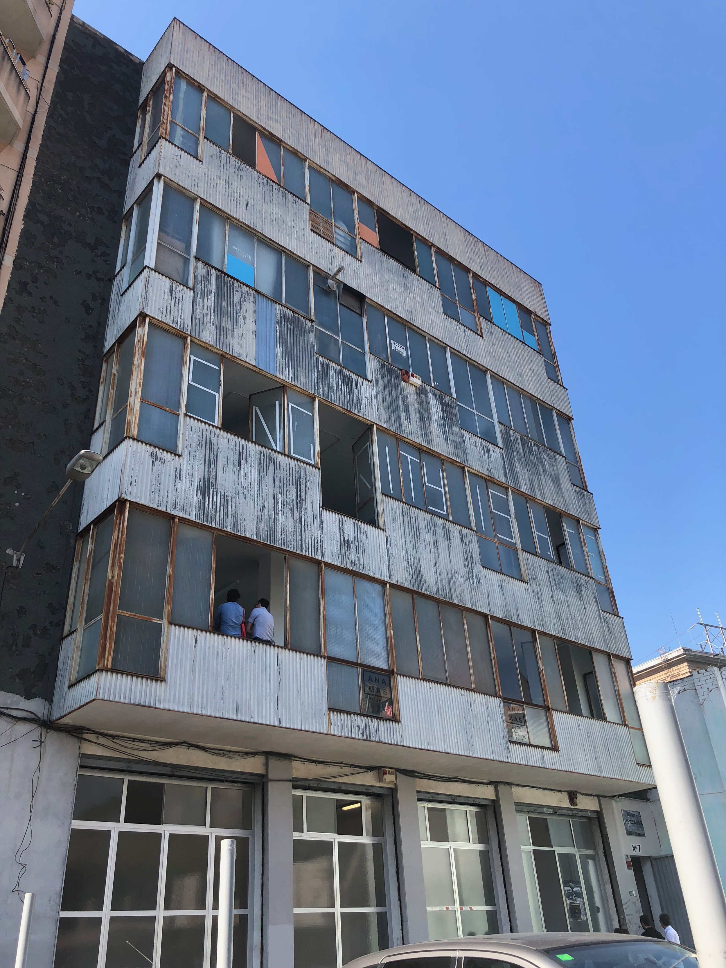 The industrial building that houses Ana Was Projects and Drama 34