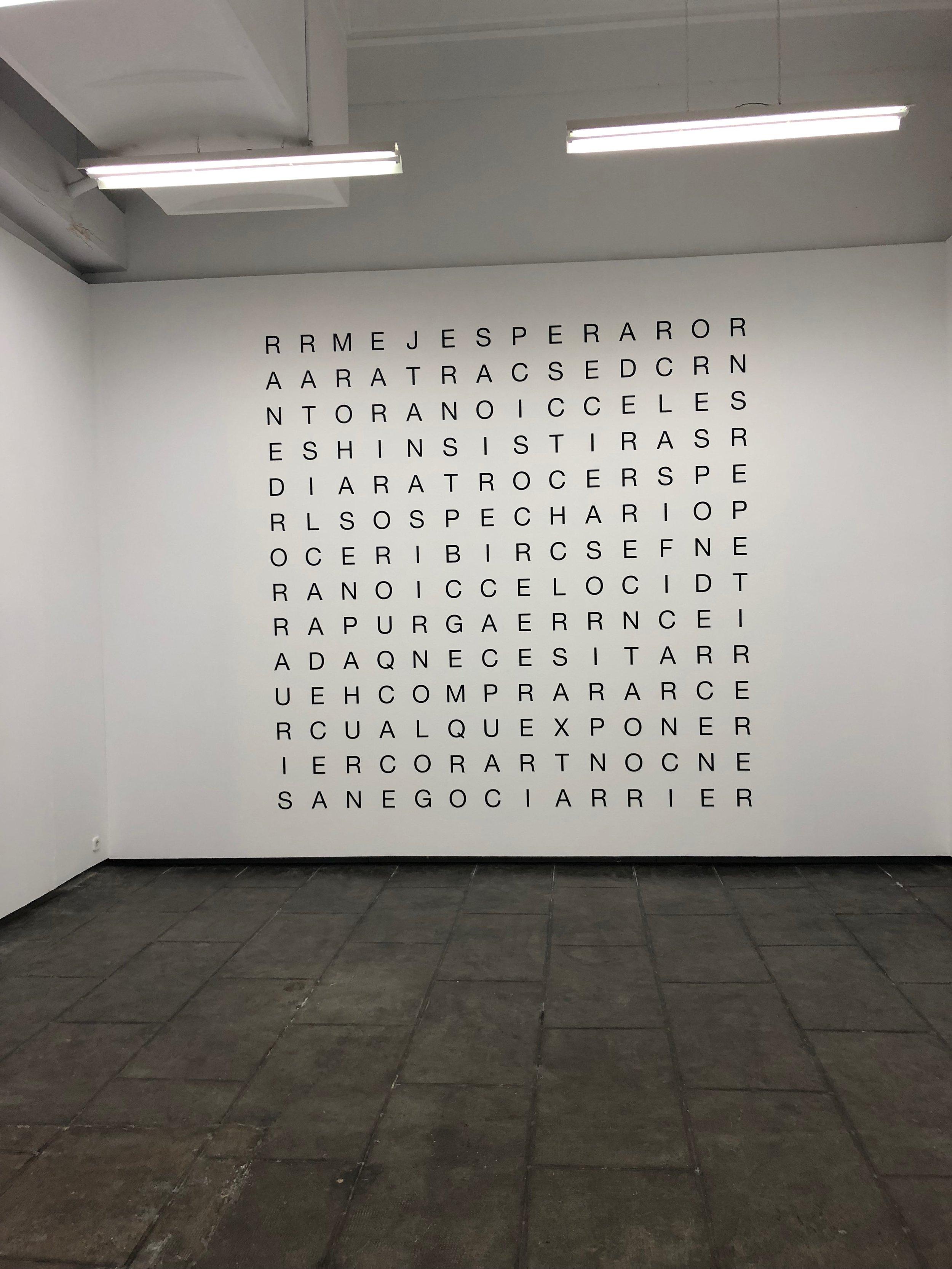 The Duo exhibition of Ignassi Aballi & Oriol Vilanova at Galeria Estrany-de La Mota