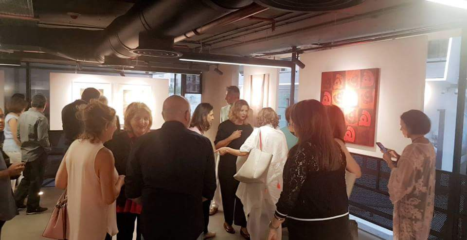 Guests at the opening reception