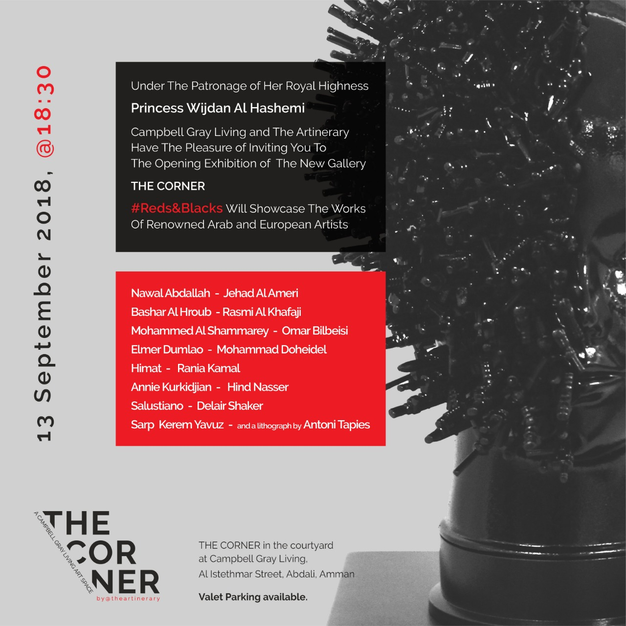 Opening exhibition invitation