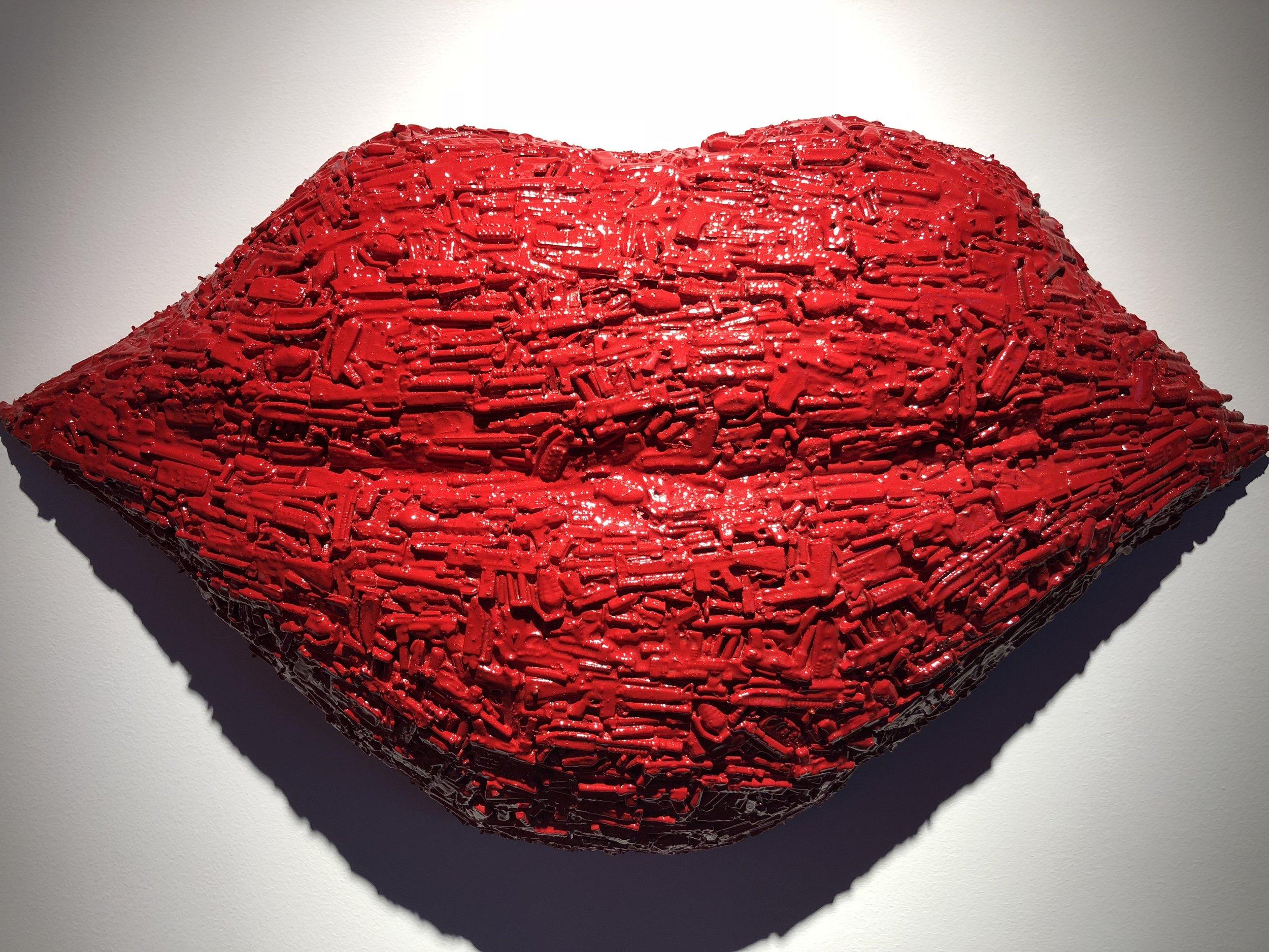 Hot Lips by Palestinian artist Bashar Al Hroub