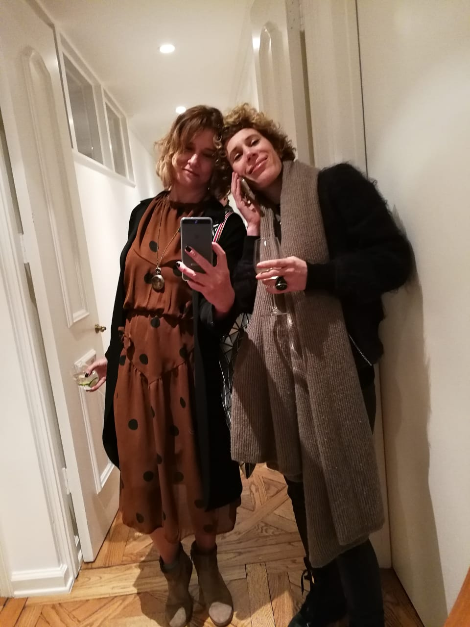 With Art consultant Suzanne Egeran at the Casa Perfect cocktail party