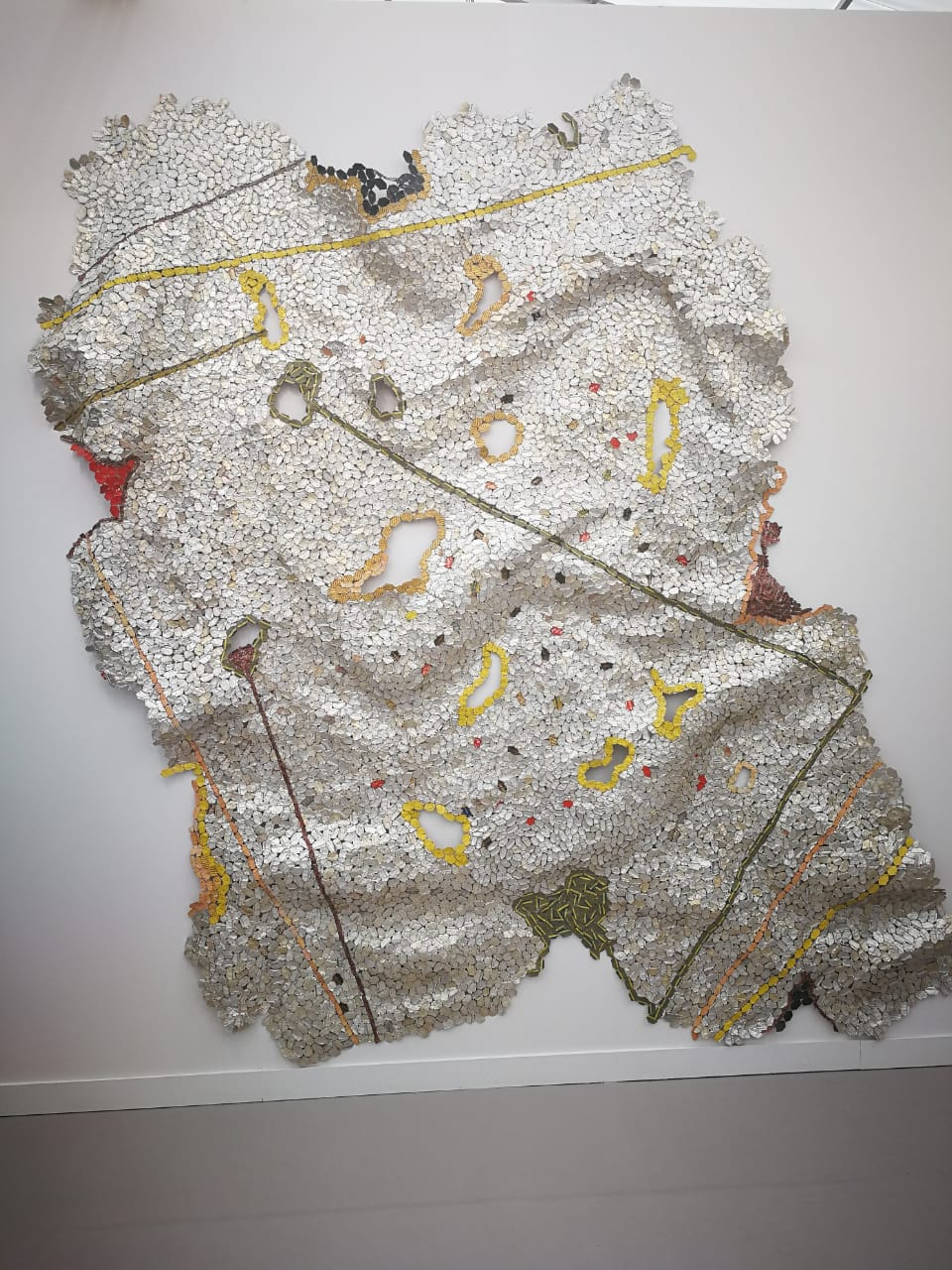 El Anatsui's artwork at Jack Shainman Gallery
