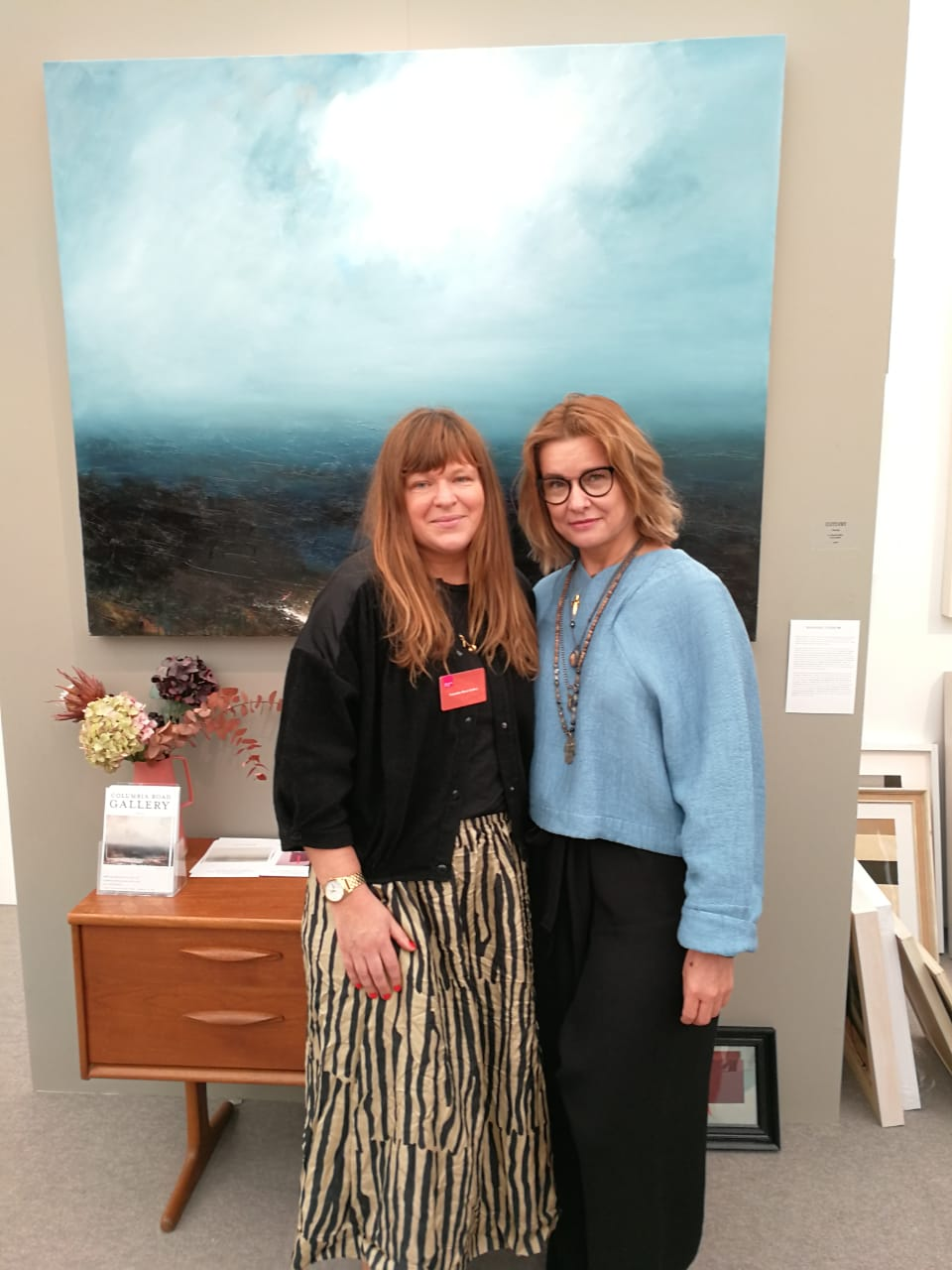 With artist Hannah Ludnow at Columbia Road Gallery
