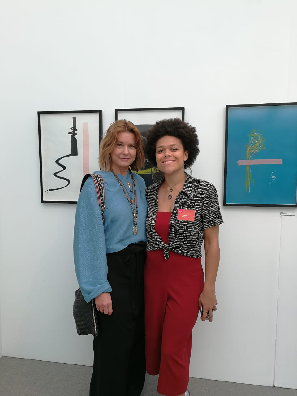With artist Lizzie Reid