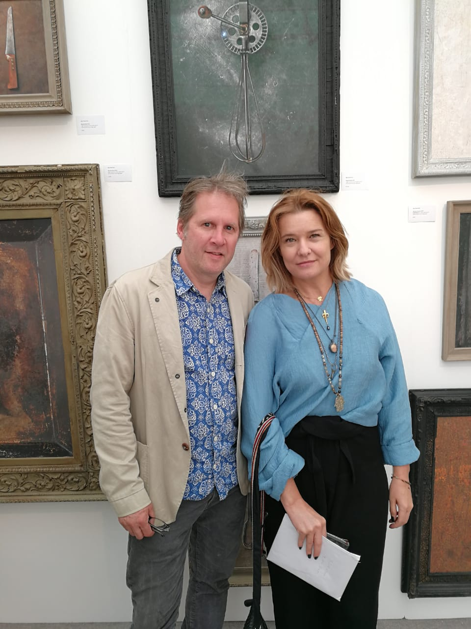 With artist Allan Newnham