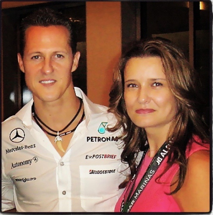 With the one and only F1 driver Michael Schumacher