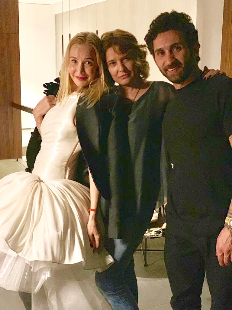 With Oona Chanel and fashion designer Jean Louis Sabaji