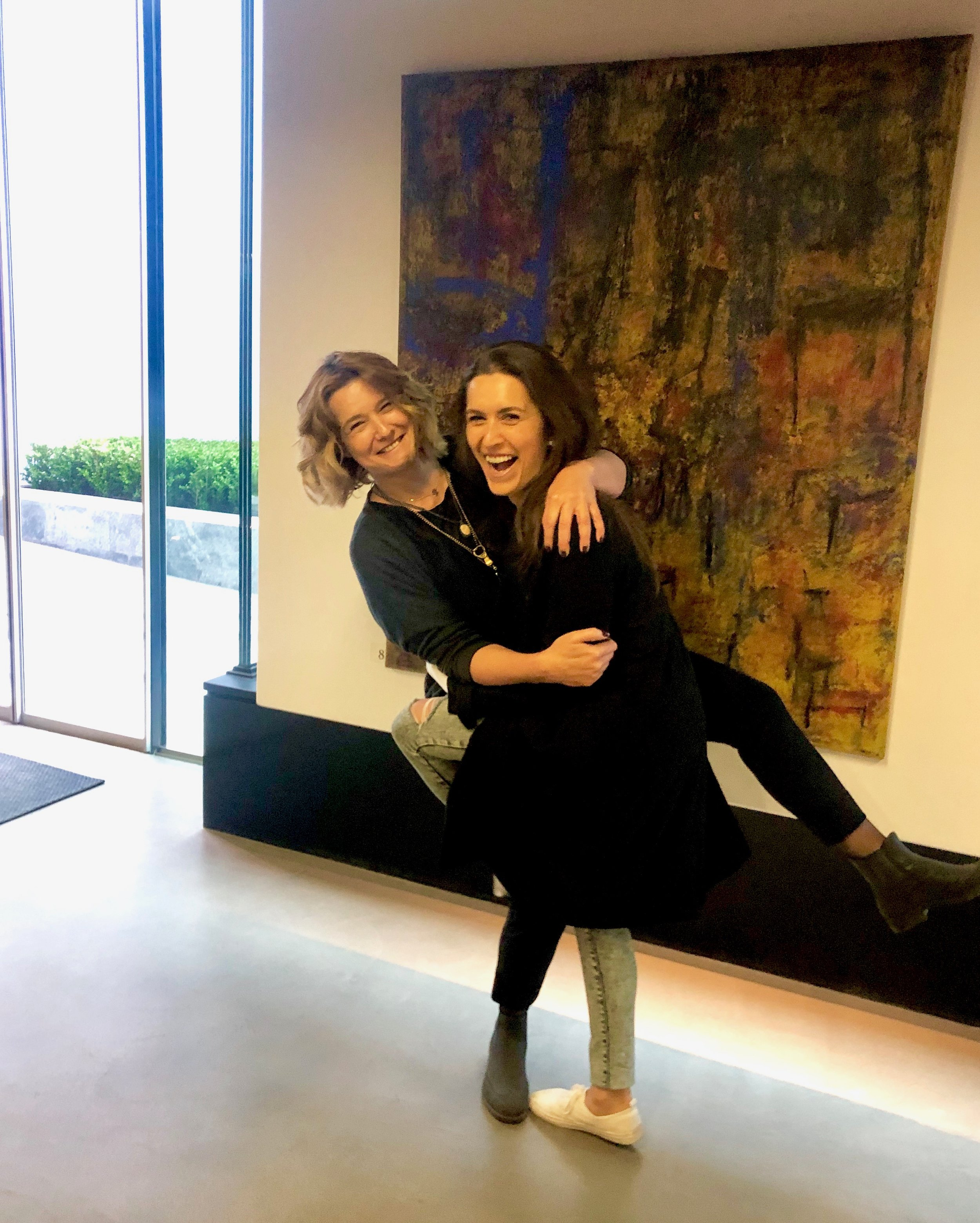 With artist Randa Haddadin