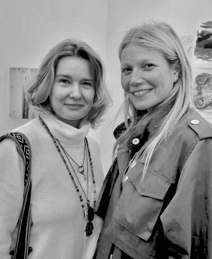With the amazing Gwyneth Paltrow
