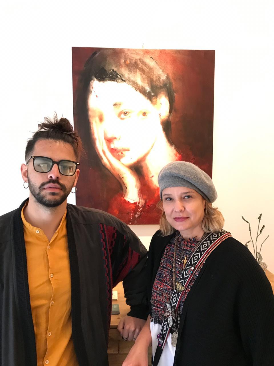 With artist Giuliano Macca