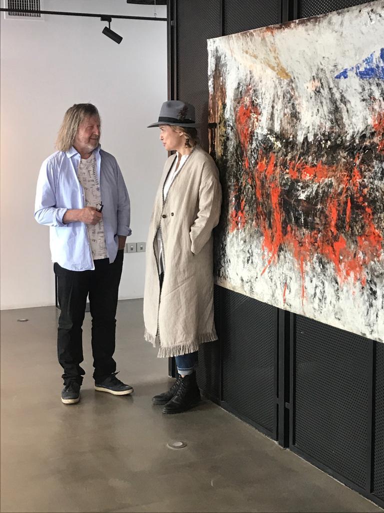 With artist Zivo
