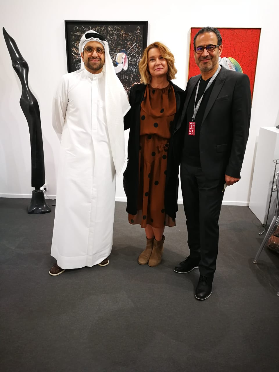 With the art Aficionado Sultan Al Qasemi and Marc Hashem