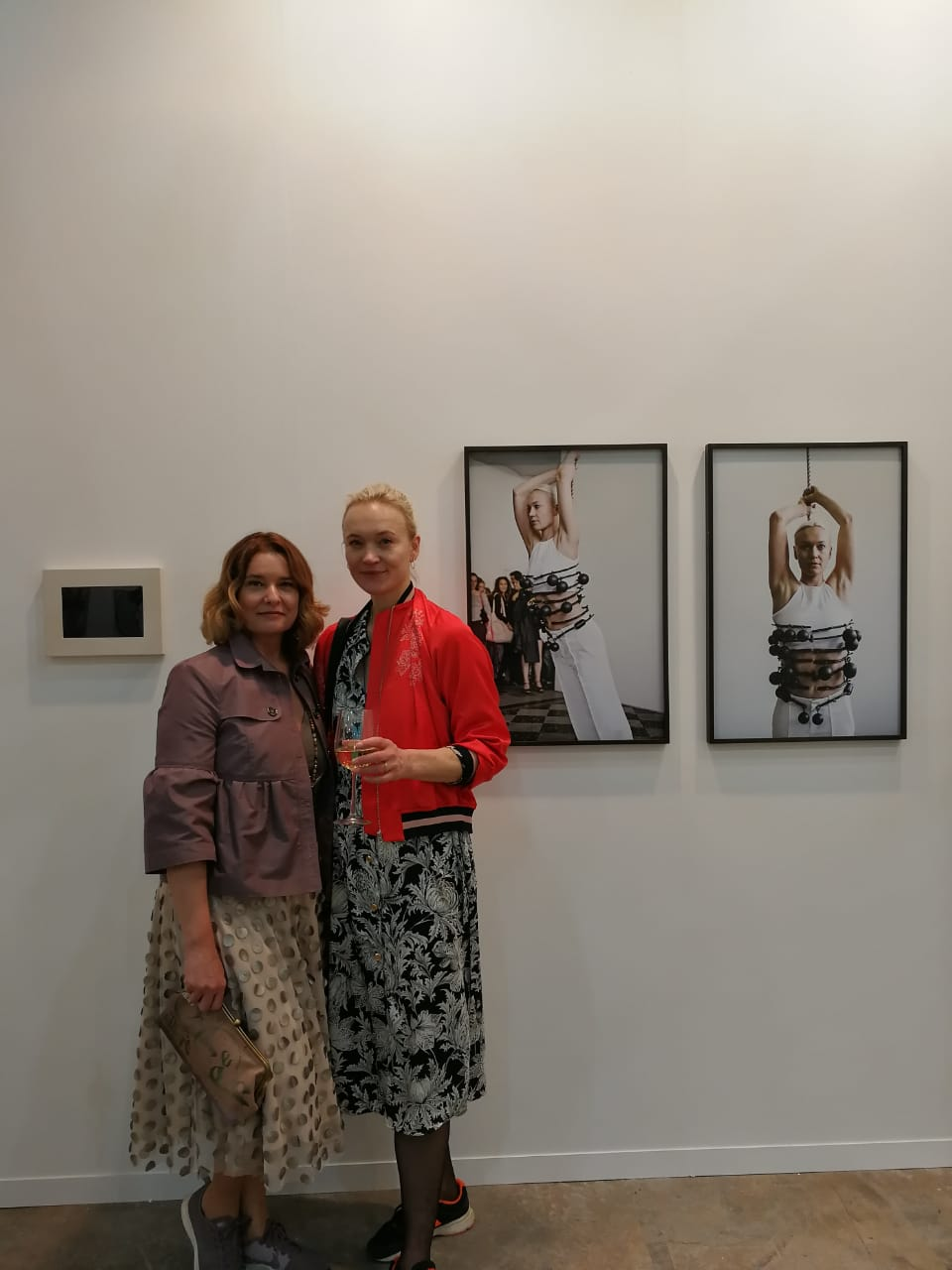 With artist Sophie Dupont