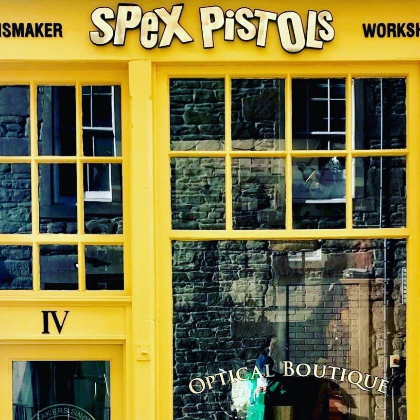 Spex Pistols  is an eclectic optical boutique which can be found on one of Dundee's smallest streets!