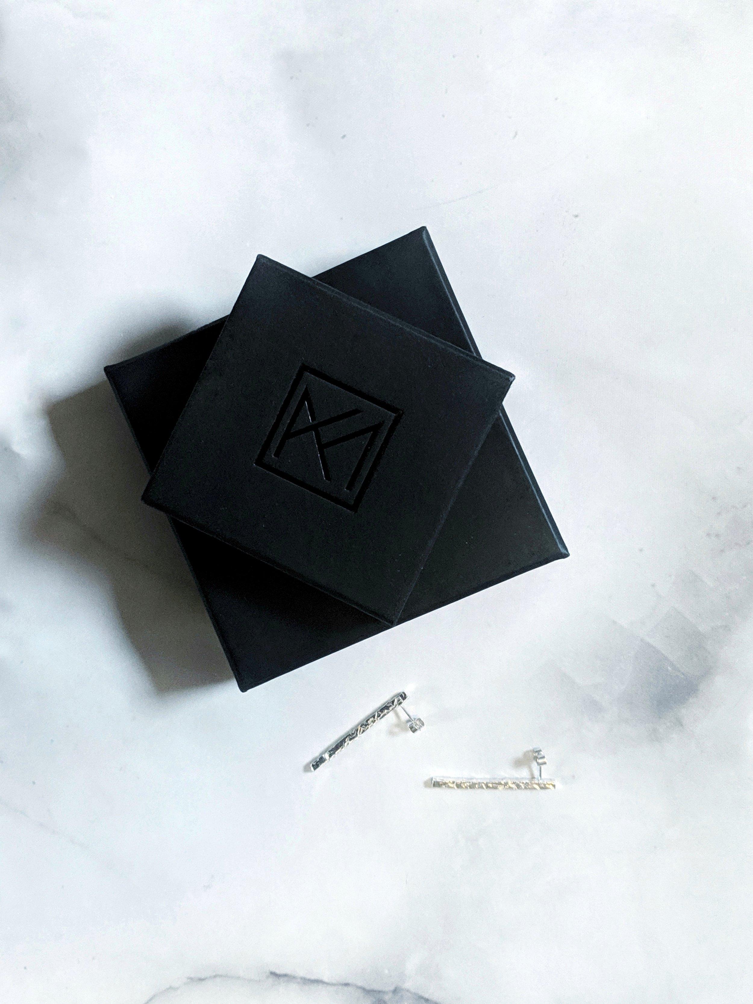 Kirsten Manzi Jewellery - Minimal Silver Earrings and Packaging.jpeg