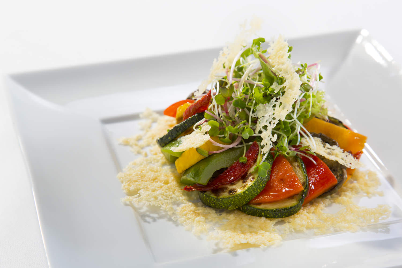 Grilled organic vegetable salad at Hilton Opera Hanoi | Vietnam Food Photographer
