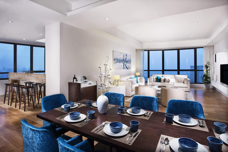 Indochina Plaza Hanoi Penthouse living room | Vietnam Property Photographer Francis Roux