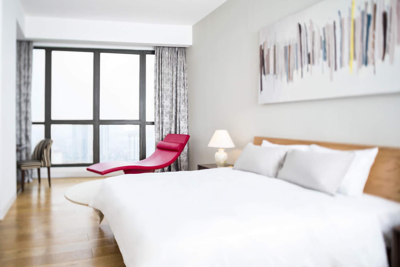 Master bedroom in Indochina Plaza Hanoi Penthouse | Real estate photographer in Vietnam | Francis Roux Portfolio