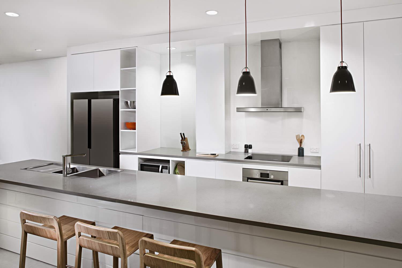 Kitchen in Hanoi Australian Embassy appartments | Vietnam properties photographer | Francis Roux Portfolio