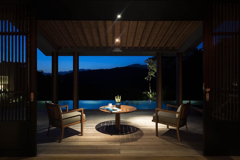 Private terrasse in a Mountain Pavillon at Amanoi Resort | Vietnam Resort Photography | Photographer Francis Roux Portfolio