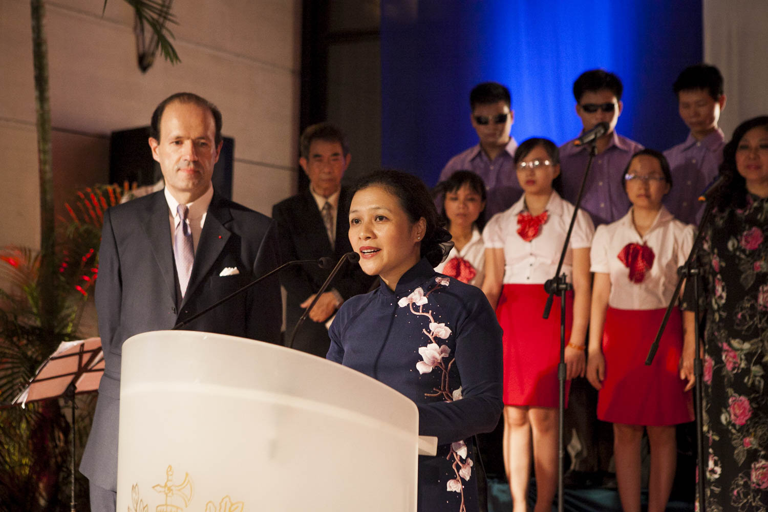Speech at the French Embassy Hanoi | Vietnam event photographer