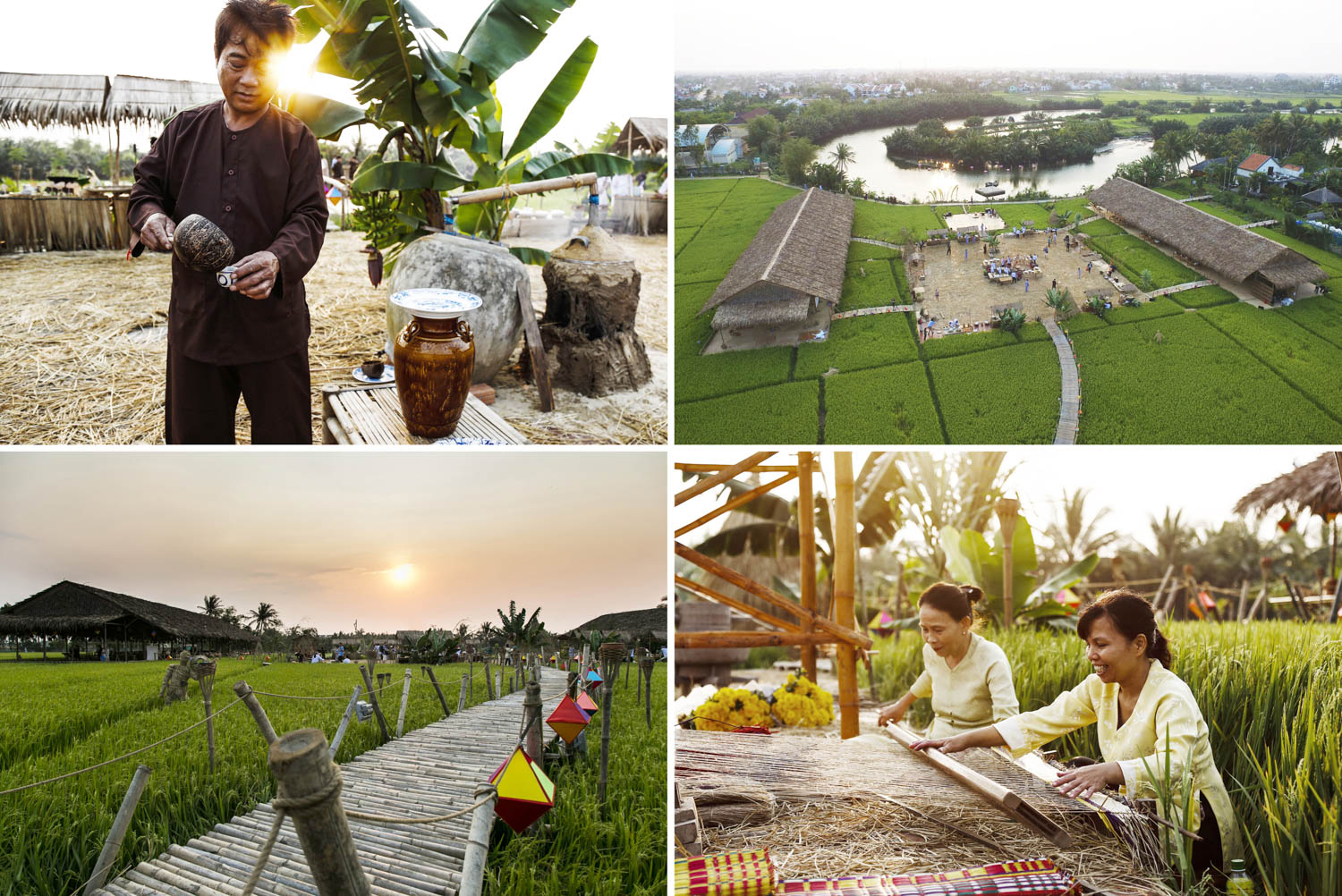 Luxury event set up in a field of rice | Hoi An events photography | Francis Roux Photographer