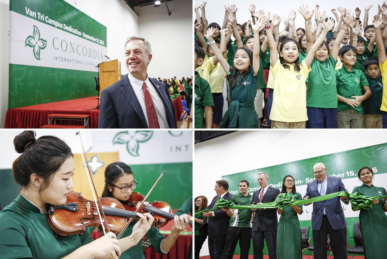 American ambassador in Vietnam Ted Odius visits Concordia International School Hanoi | Francis Roux Event Photographer