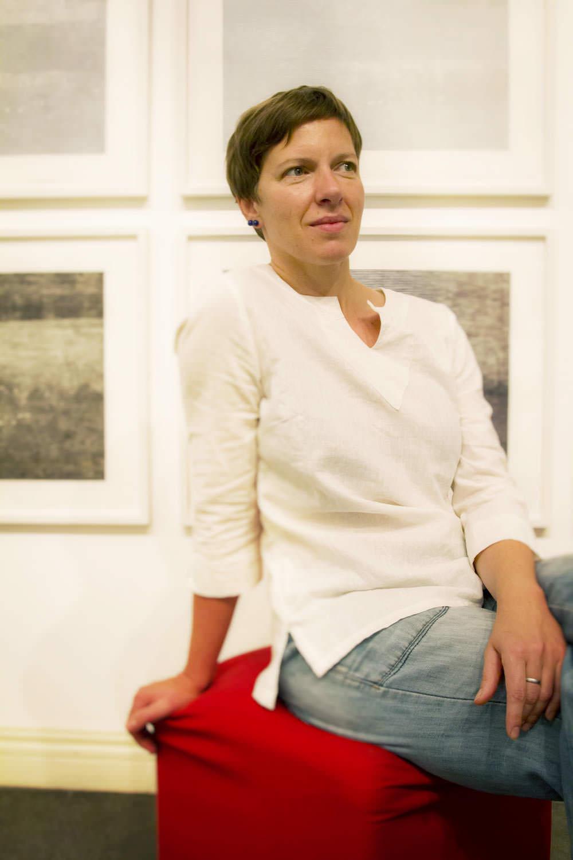 Portrait of German artist Christiane Baumgartner at Goethe Institut | Vietnam Portrait Photography | Francis Roux Photographer
