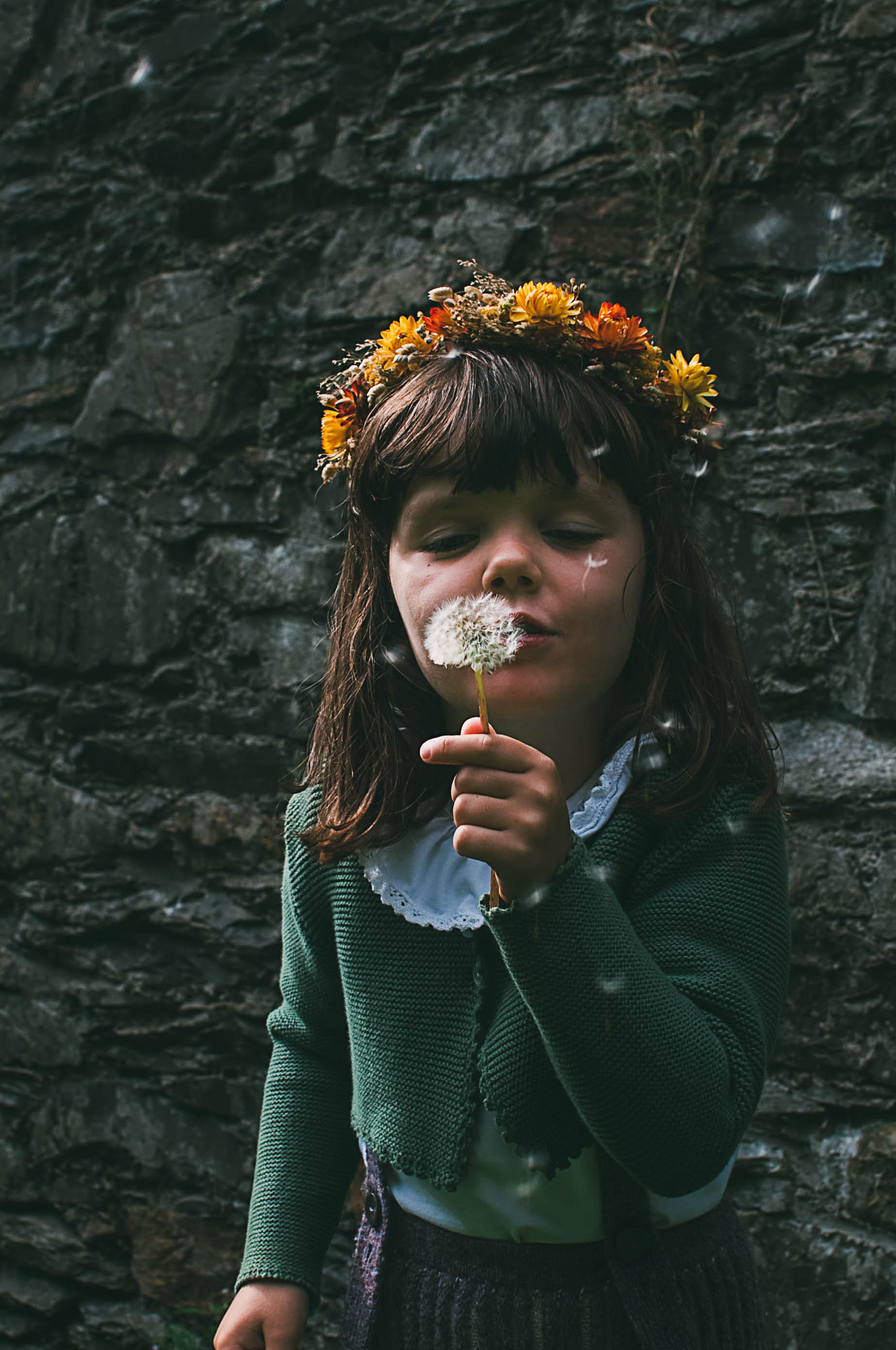 Immy featuring a flower crown by Botanical Tales